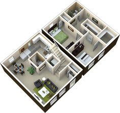2 bedroom | 1.5 bath | 950 sq ft  This is a great floor plan! Sims House, Two Bedroom, Bedroom Apartment, Townhouse, Bedroom Furniture, Building A House, House Plans, Floor Plans, House Design