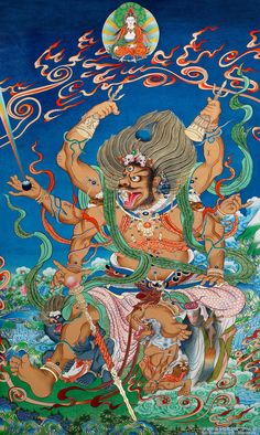 Buy online, view images and see past prices for Big black day Protector Thangka: Lot size: Invaluable is the world's largest marketplace for art, antiques, and collectibles. Tibetan Buddhism, Buddhist Art, Japanese Prints, Japanese Art, Thangka Painting, Buddha Painting, Tibet Art, Complex Art, Thai Art
