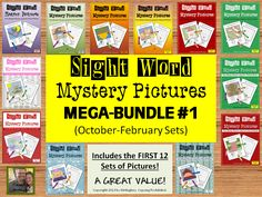 In the 144 page MEGA BUNDLE you will get:    -October Sets 1 & 2 (First 25 words)  -November Sets 1 & 2 (Second 25 words)  -December Sets 1, 2, 3, & 4 (Sets 1 and 2- Review of First 25, Sets 3 and 4- Third 25)  -January Sets 1 & 2 (Fourth 25 words)  -February Sets 1 & 2 (Review of all 100 words mixed) ($)