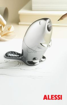 Kastor - pencil sharpener, Rodrigo Torres, 2013 #alessi #design #office
