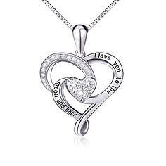 """The letter """"I Love You to the Moon and Back"""", it signfly the couples love each other to forever Harmony Jewelry Company: A famous jewel"""