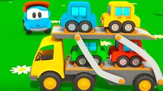 First toons - Leo and new car trailer. Kids cartoons. Kids animations. E...
