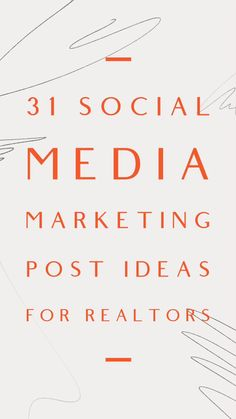 Business Ideas For Women Discover 31 Social Media Post Marketing Ideas for Realtors These social media content ideas are designed to help real estate agents boost engagement grow brand awareness and to stay top of the mind. Marketing Logo, Citations Marketing, Plan Marketing, Marketing Online, Social Media Marketing Business, Marketing Quotes, Facebook Marketing, Digital Marketing Strategy, Real Estate Marketing