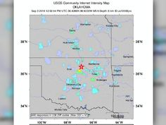 Oklahoma earthquake felt from Texas to North Dakota/largest quake ever in OKLA.  First time I have experienced feeling a quake.