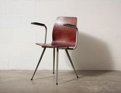 Set of 4 WILLY van der meeren style industrial chair