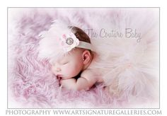 Pink  Couture Hydrangea Shabby Chic by CoutureBabyHeadbands, $17.99
