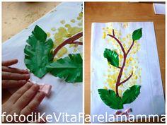 La mimosa dei bambini ~ KeVitaFarelamamma | Che vita fare la mamma tra emozioni, letture e lavoretti per bambini