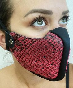 Best Masks, Cool Masks, Best Face Mask, Diy Face Mask, Face Diy, Face Masks, Leather Mask, Real Leather, Python