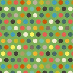 green boy number spot fabric by scrummy on Spoonflower - custom fabric