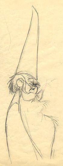 merlin sketch by Milt Kahl