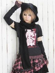 Cat-Ear Hood Muffler / See more at http://www.cdjapan.co.jp/apparel/new_arrival.html?brand=DRT #japan punk #japan fashion
