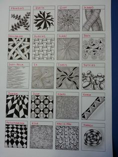 images about doodle & zentangle Dibujos Zentangle Art, Zentangle Drawings, Doodles Zentangles, Doodle Drawings, Pencil Drawings, Tangle Doodle, Zen Doodle, Doodle Art, Doodle Patterns