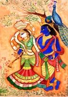 India is a land of diversity in culture, region, religion and language which has influenced the nation's art as well. A huge portion of Indian artworks are influenced by different religions and culture of the nation. Indian Artwork, Indian Paintings, Indian Language, Art Diary, Indian Artist, Traditional Paintings, Online Art Gallery, Figurative Art, Folk Art