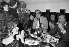 Elizabeth Taylor celebrates her 40th birthday with British actor Michael Caine, his wife Shakira and designer Vicky Tiel, among others.