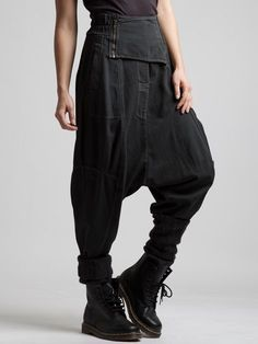 VERY LOW CROTCH TROUSER WITH A RUBBER BAND IN WAIST - JACKETS, JUMPSUITS, DRESSES, TROUSERS, SKIRTS, JERSEY, KNITWEAR, ACCESORIES - Woman -