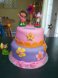 Dora birthday cake by NadineBou, via Flickr