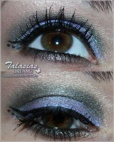Green Blue Eye Make Up - Datum: 09.02.2012  http://talasia.blogspot.de/2012/02/amu-swatch-catrice-female-eye-aquarelle.html