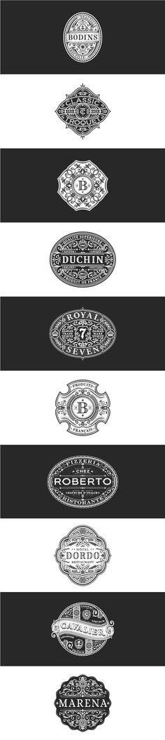 By jc desevre / illustration / hand drawn / drawing / stamp / postcard / logo / inspiration / icons / lines / emblems / monogram