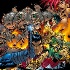 joe madureira art of battle chasers Comic Book Artists, Comic Book Heroes, Comic Artist, Comic Books Art, Image Comics, Dc Comics, Joe Madureira, Comic Character, Character Design