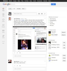 Like many of us, if you have logged into Google+ today, you may have been greeted with a great surprise. A major UI(user interface) overhaul with a brand new look and feel that looks similar to an operating system.  Google+ new look and feel  Th