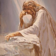 Jesus Christ Praying for strength before the things He had to suffer for us.