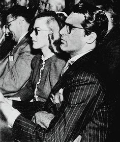 Cary Grant and Ginger Rogers at the Olympic Auditorium in Los Angeles, c. 1937