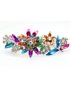 New Retro Colorful Vintage Beautiful Flowers Crystal Hair Clips *** You can find out more details at the link of the image.