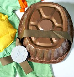 The Scrap Shoppe: Teenage Mutant Ninja Turtle Costumes (TMNT) Great idea for the shell! Turtle Birthday Parties, Ninja Turtle Birthday, Ninja Turtle Party, Ninja Turtles, Birthday Ideas, Holidays Halloween, Halloween Fun, Halloween Costumes, Pirate Costumes
