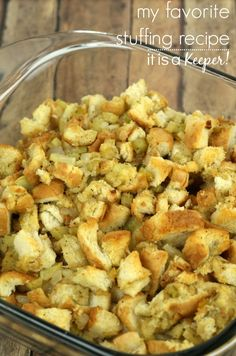 Easy Homemade Stuffing – an easy and delicious stuffing recipe that's perfect for Thanksgiving or any day