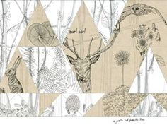 Woodland from Wall&deco Wall Art Designs, Wall Design, Design Art, Kids Wall Murals, Mural Wall Art, Wallpaper Collection, Shadow Art, Contemporary Wallpaper, Deco Design