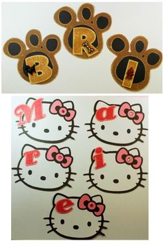 Dorm room door decorations using the Hello Kitty and Paper Pups cartridges by #Cricut.