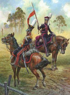 Russia; Volhynia Uhlans, Officer & Tartar Uhlans,Trooper,