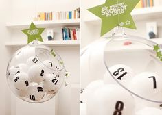 advent calendar, made with table tennis balls