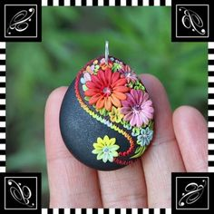 Polymer Clay Pendant by Veronica Jeong, via Flickr.
