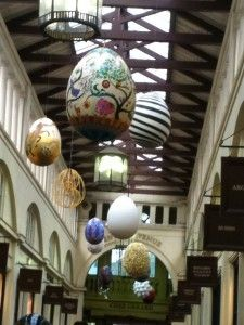 The Faberge Big Egg Hunt eggs on display in Covent Garden. Happy Easter!