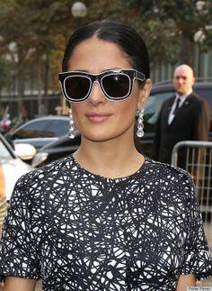 f1c9cefb03 Salma Hayek  sunglasses Celebrities With Glasses