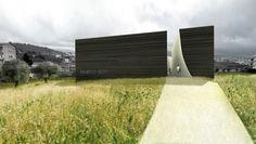 render MUNICIPAL THEATRE AND MEDIATHEQUE  ACRI – COSENZA ITALY 2006 – in progress  MDU_architetti