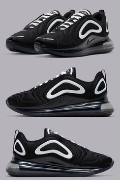 Nike Sportswear is dropping their Air Max 720 silhouette in a new black and white colorway. Air Max Sneakers, Sneakers Nike, Nike Sportswear, New Trends, Oreo, Spectrum, Nike Air Max, Vibrant, Fans