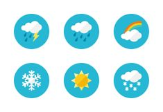 'Weather Icons - Rounded' by Webalys LLC Shop Icon, Icon Set, Weather Icons, Icon Design, Symbols, Illustration, Vintage, Icons, Illustrations