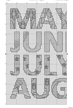 Months May to August - Free Cross Stitch Pattern!