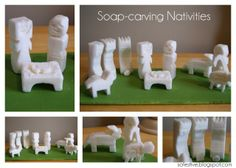 a fun Christmas activity for all ages-just pick up a few ivory soap bars and carve a nativity!