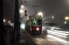Vienna Tram at Night Photograph by John Rizzuto Vienna, Fine Art Prints, Train, Night, World, Pictures, Photography, Photos, Photograph