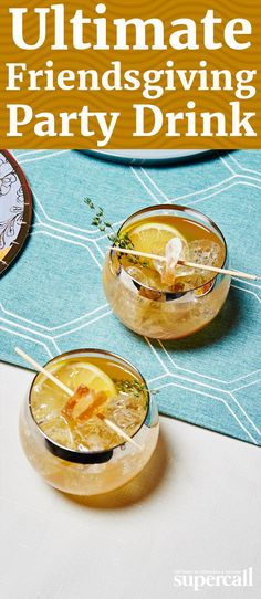 Made with bourbon (we like to use ultra-strong bottled-in-bond whiskey), frozen lemonade, maple syrup for that autumn spice and ginger beer, it's both simple and impressive.