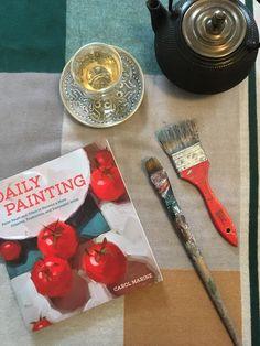 Sarah J. Loecker  : Daily Painting by Carol Marine - Book review of th... Sarah J, Urban Sketching, Book Reviews, New Art, Book Art, Artists, Books, Painting, Libros