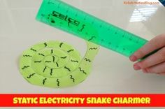 Have you tried to explain what static electricity is to your child?  You can demonstrate the concept to them as you make static electricity with this gravity defying snake!