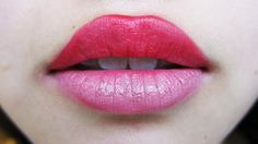 Time to change it up! Two-tone lips.