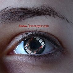 Teeth Halloween Contact Lenses for PE eyes