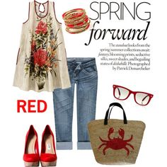 RED, created by charlotte-bilton-carver on Polyvore