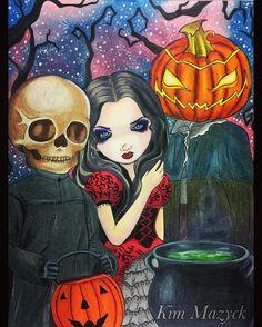 "Gefällt 140 Mal, 4 Kommentare - Kim Mazyck (@kimmazyck) auf Instagram: ""這幾天都在畫萬聖節主題,這本是我的同事從美國帶回來的,非常感謝她! 著色本Coloring Book: Jasmine Becker-Griffith Halloween  使用色鉛筆…"""