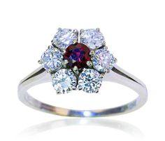 Rubin Ring Brillant Ringe Schmuck